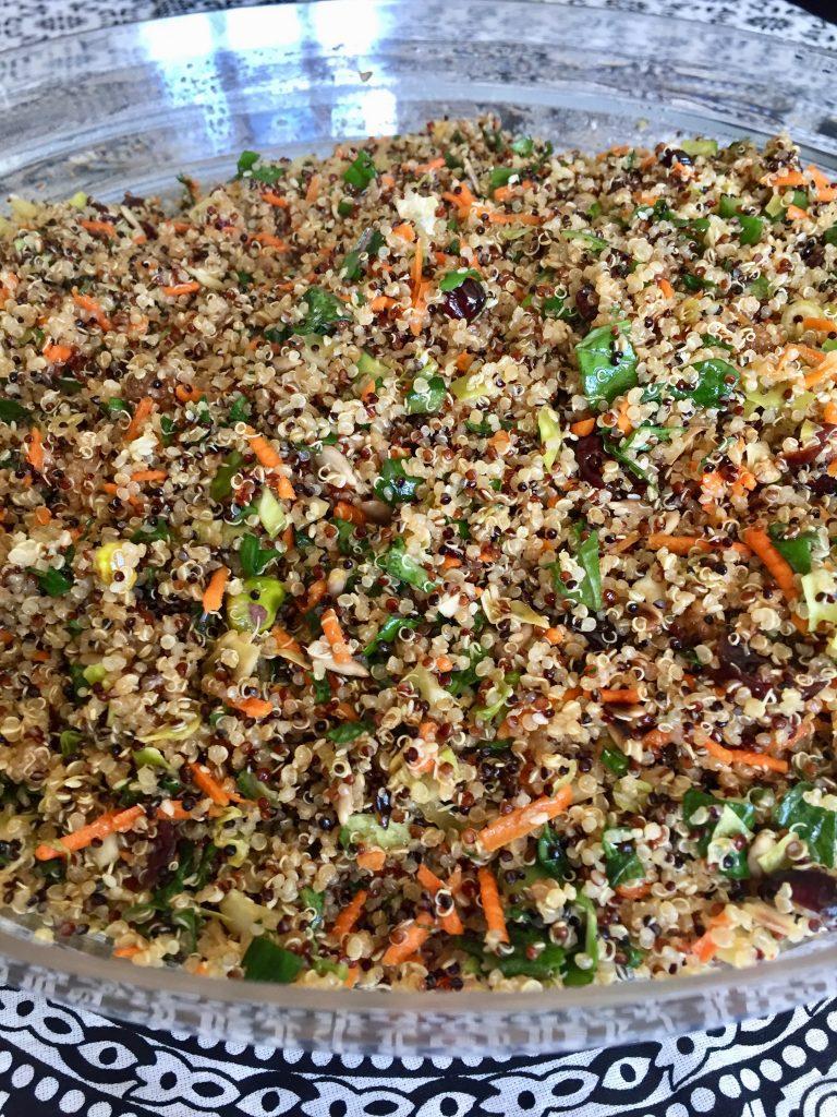 Tri-Color Quinoa and Kale Salad