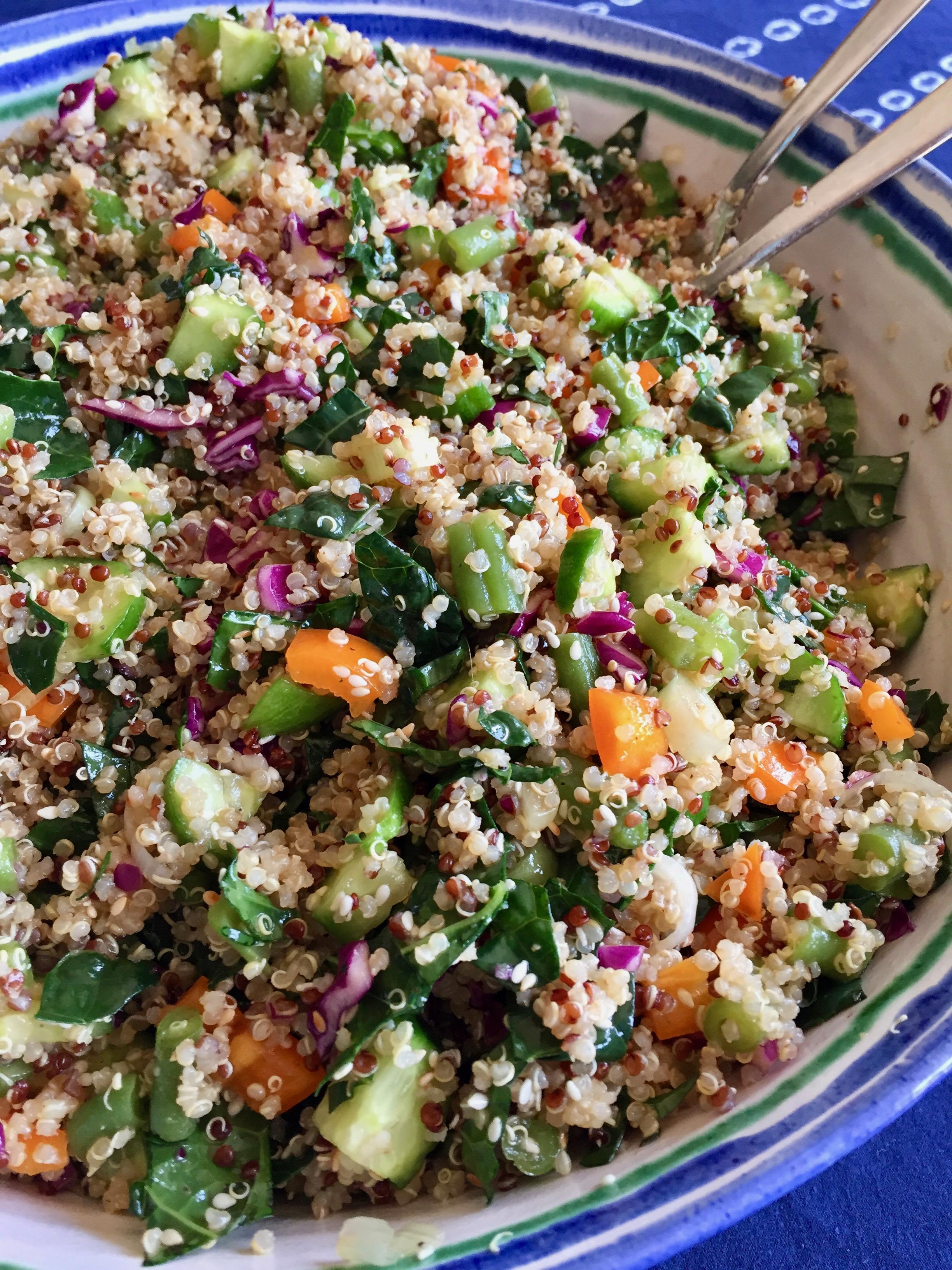 Quinoa Kale Summer Salad