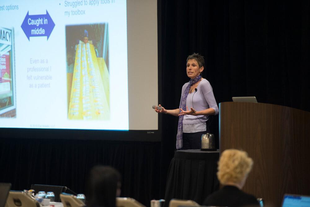 Kirstin Nussgruber presenting at OncANP 2018